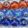 Evil Eye Lampwork Beads, Round, more colors for choice, 12mm, Sold By PC