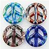Moulding Lampwork Pendant, peace shape, miracle design, more colors for choice, 25x25x6mm, Hole:Approx 4MM, Sold by PC