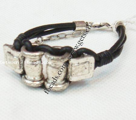 jewelry making bracelet cord  leather cord with alloy clasp  12mm 12mm 19mm