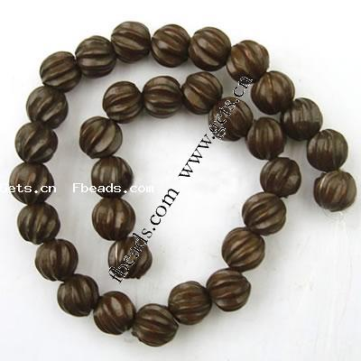 Wooden Beads on Wooden Round Beads  Carven  Handmade Carved Wood Bead Necklace