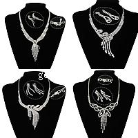 Rhinestone Brass Chain Jewelry Sets