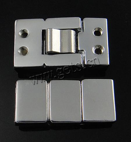 Zinc Alloy Watch Band Clasp, Rectangle, more colors for choice, 24x11x6mm, Hole:Approx 8.3x1.7mm, Sold By PC