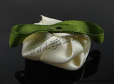 Green Fashion Roses on Fashion Decoration Flowers Ribbon Rose With Leaf 38x30x13mm  Sold By