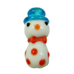 Christmas Lampwork Beads, Snowman, 13x29mm, Hole:Approx 2mm, Sold By PC