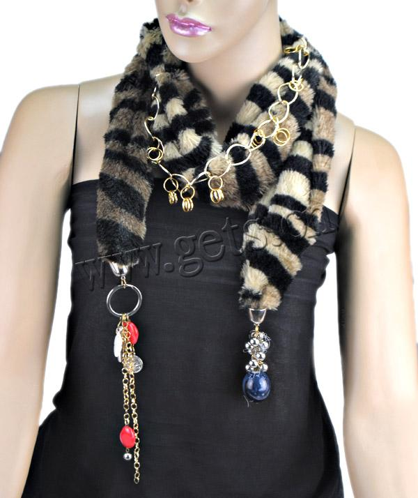 Fur Scarf fashion tiger skin cute charms on tail exquisite scarf  Cute Cheap Fashion Scarves