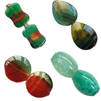 Natural Malachite Agate Beads