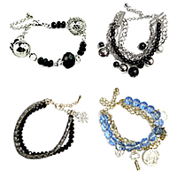 Crystal Iron Chain Bracelets