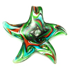 Handmade Lampwork Pendant, starfish shape, with silver foil, more colors for choice, 57x51x7mm, Hole:Approx 9MM, Sold by PC