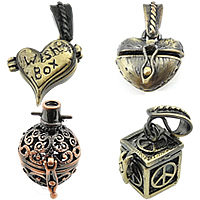 Brass European Prayer Box Pendants