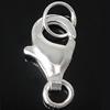 925 Sterling Silver kapje karavidhe Claw, argjend praruar vërtetë, 6x10.80x2.80mm, : 2.5-4mm, 10PC/Qese,  Qese