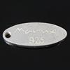 925 Sterling Silver varëse, Syri kali, Platinum kromuar, 12x5x1mm, : 1mm, 10PC/Qese,  Qese