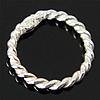 925 Sterling Silver Ring Tjetri, Petull e ëmbël në formë gjevreku, argjend praruar vërtetë, 6x6x0.80mm, 80PC/Qese,  Qese