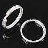 925 Sterlingsilber Biegering, 925 Sterling Silber, Kreisring, 10x10x1.40mm, 20PCs/Tasche, verkauft von Tasche