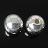 925 Sterling Silver Beads, Round, argjend praruar vërtetë, 7mm, : 1.5mm, 10PC/Qese,  Qese