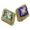 Beads Smooth Cloisonne, Romb, asnjë, 17x21x7mm, : 2mm, 20PC/Qese,  Qese