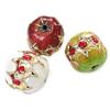 Beads Smooth Cloisonne, Lule, asnjë, 13x12.50mm, : 1mm, 20PC/Qese,  Qese