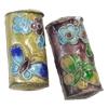 Beads Smooth Cloisonne, Tub, asnjë, 22x11x7.50mm, : 1mm, 20PC/Qese,  Qese