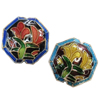 Beads Smooth Cloisonne, Tetëkëndësh, asnjë, 19x19x9mm, : 2mm, 20PC/Qese,  Qese
