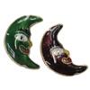 Beads Smooth Cloisonne, Hënë, asnjë, 15x22x5mm, : 1mm, 20PC/Qese,  Qese