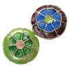 Beads Smooth Cloisonne, Lule, asnjë, 19x7mm, : 1mm, 20PC/Qese,  Qese