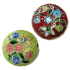 Beads Smooth Cloisonne, Round Flat, 20x18mm, : 1mm, 20PC/Qese,  Qese