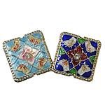 Beads Smooth Cloisonne, Katror, 21x21x7mm, : 1mm, 20PC/Qese,  Qese