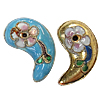 Beads filigran Cloisonne, Lot, 13x22x6mm, : 1mm, 60PC/Qese,  Qese