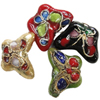Beads filigran Cloisonne, Kafshë, 15x10.50x6mm, : 1mm, 100PC/Qese,  Qese
