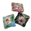 Beads filigran Cloisonne, Romb, 16x16x9mm, : 1mm, 100PC/Qese,  Qese