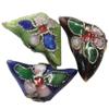 Beads filigran Cloisonne, 15x8x4mm, : 1mm, 100PC/Qese,  Qese