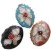Beads filigran Cloisonne, Oval, asnjë, 16x12x8mm, : 1mm, 100PC/Qese,  Qese
