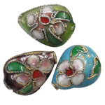 Beads filigran Cloisonne, Lot, asnjë, 10x13.50x6mm, : 1mm, 100PC/Qese,  Qese