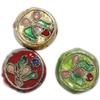 Beads filigran Cloisonne, Monedhë, asnjë, 14x6mm, : 1mm, 60PC/Qese,  Qese