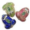 Beads filigran Cloisonne, Monedhë, asnjë, 14x16x7mm, : 1mm, 60PC/Qese,  Qese