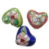 Beads filigran Cloisonne, Monedhë, asnjë, 16x14x8mm, : 1mm, 100PC/Qese,  Qese