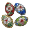Beads filigran Cloisonne, Monedhë, asnjë, 19x14x9mm, : 1.5mm, 40PC/Qese,  Qese