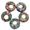 Beads filigran Cloisonne, Petull e ëmbël në formë gjevreku, asnjë, 15x5mm, : 1mm, 100PC/Qese,  Qese