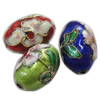 Beads filigran Cloisonne, Oval, asnjë, 12x18mm, : 2mm, 40PC/Qese,  Qese