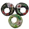 Beads filigran Cloisonne, Petull e ëmbël në formë gjevreku, asnjë, 20x6mm, : 2mm, 40PC/Qese,  Qese