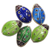 Beads Smooth Cloisonne, Kafshë, 11x17x6mm, : 1.5mm, 20PC/Qese,  Qese