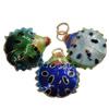 Pendants Cloisonne, Kafshë, i përzier, 17x21x8mm, : 3mm, 20PC/Qese,  Qese