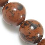 Mahagoni Obsidian Perlen, mahagonibrauner Obsidian, rund, natürlich, 10mm, Bohrung:ca. 1mm, Länge:ca. 15 ZollInch, 10SträngeStrang/Menge, ca. 37PCs/Strang, verkauft von Menge