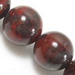 Jasper Brecciated Beads, Round, natyror, 8mm, : 1mm, : 15.5Inç, 10Fillesat/Shumë,  Shumë