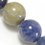Sodalith Perlen, Sosalith, rund, natürlich, blau, Grade A, 4mm, Bohrung:ca. 0.8mm, Länge:ca. 15.5 ZollInch, 10SträngeStrang/Menge, ca. 90PCs/Strang, verkauft von Menge