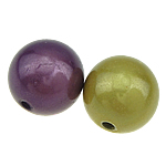 ABS-Kunststoff-Perlen, ABS Kunststoff, rund, gemischte Farben, 12mm, Bohrung:ca. 2mm, 250PCs/Tasche, verkauft von Tasche