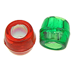 Beads ABS plastike, Daulle, ngjyra të përziera, 4x4mm, : 2mm, 15000PC/Qese,  Qese