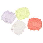 Mbulim Gjuhësh akrilik, Lule, i tejdukshëm, ngjyra të përziera, 44x41x4mm, : 1.5mm, 88PC/Qese,  Qese
