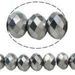 Rondelle Beads Crystal, Kristal, imitim kristal Swarovski, Ngjyra metalike praruar, 3x4mm, : 1mm, :12Inç, 10Fillesat/Qese,  Qese