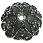 Bali Sterling Silver Bead Caps, Tajlandë, Lule, asnjë, asnjë, asnjë, 12.50x12.50x4.80mm, : 1.2mm, 5PC/Qese,  Qese