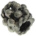 925 Sterling Silver Beads, Tajlandë, Tub, 5x4.30mm, : 2mm, 10PC/Qese,  Qese